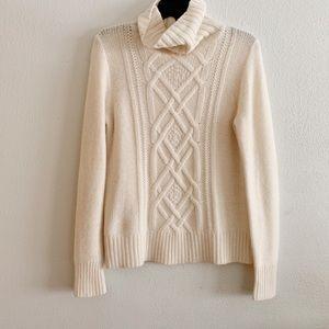 J. Crew Angora Cable Knit Sweater Size Small